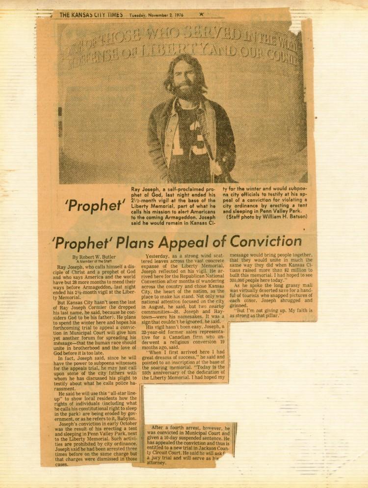 Kansas City Times November 2, 1976 All Souls Day