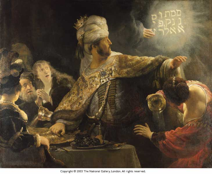 belshazzar1 Writing On The Wall