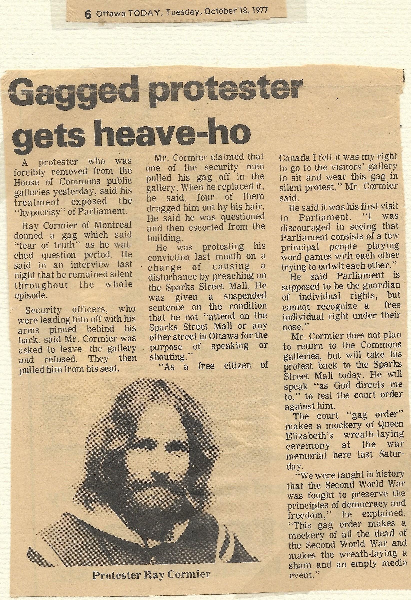 Ottawa Today, October 18, 1977